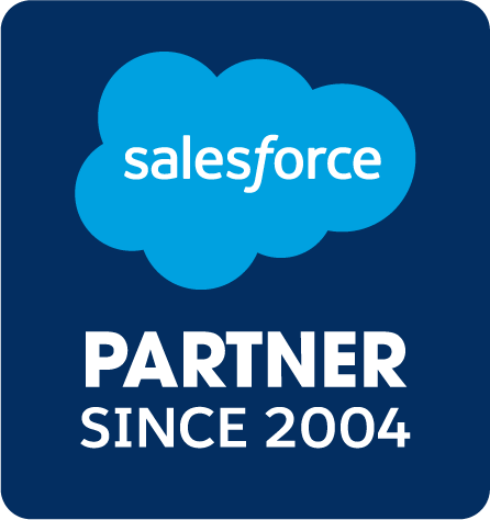 a Salesforce Partner Badge received by Simplus Australia for being a Salesforce Partner since 2004
